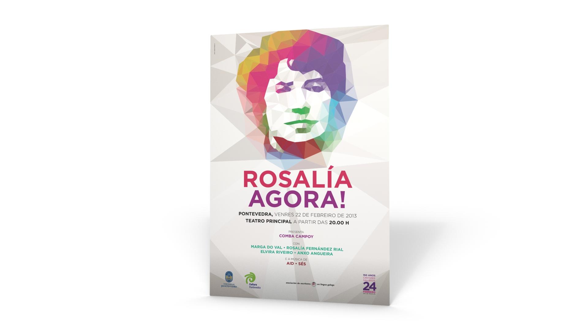 Rosalía de Castro, deseño de Ovo Publicidade